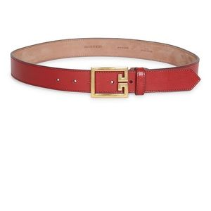 Givenchy skinny leather belt. Red 85